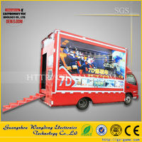 Hot sale 5D cinema simulator Play house,mobile cinema Type truck mobile 5D cinema