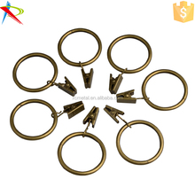 Metal curtain sprung drapery clip rod ring wholesale