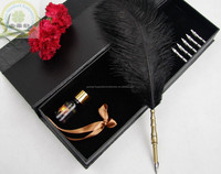 Office feather pen set as gift with good price/Excellent grade gift feather pen set