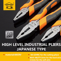 Japanese Type Premier Quality Industrial Combination Plier With Two Components Plastic Handel Made In China