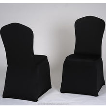 Wedding supplies wholesale black color cheap spandex chair cover