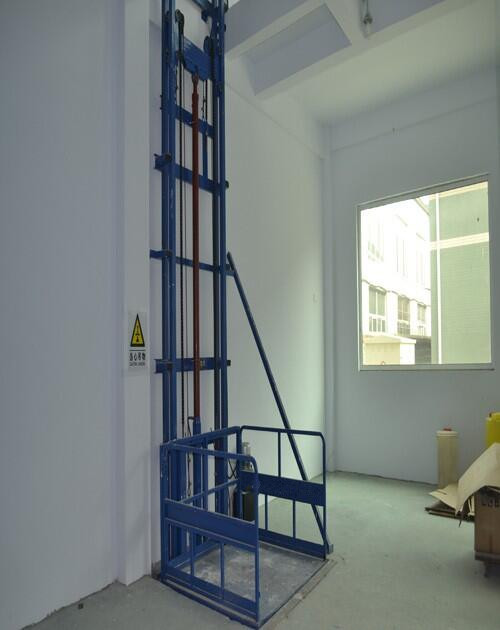 Hydraulic guide rail used cargo elevator with SJD0.2-7