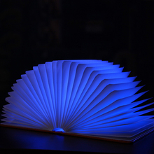 China Supplier Unique Home Decoration USB PU Cover folding led book lamp