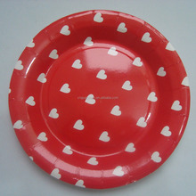 custom printed pizza paper disposable plate for wedding