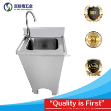 Industrial Hotel Stainless Steel Knee-operated Hand Washing Sink/Stainless Steel Kitchen Basin for Restaurant