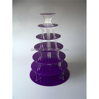 Wholesale multi-laye crystal clear acrylic cupcake stand R160469