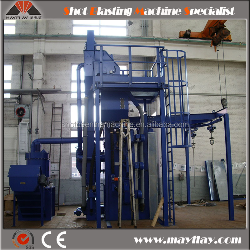 MAYFLAY Double Hanger Shot Blasting Machine For Hanging Construction