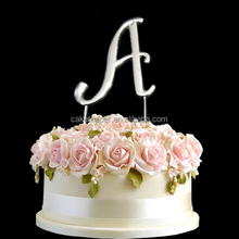 Wholesale new design cake topper rhinestone acrylic letters cake topper for party decoration