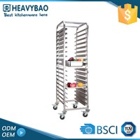Heavybao Stainless Steel Knocked-down Bread Trolley Pancake Cart For Pizza