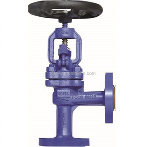 hand wheel angle globe valve with blue body