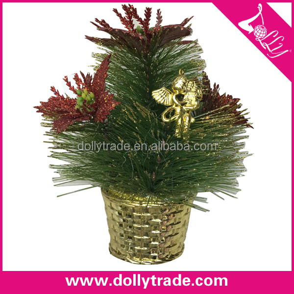 Pine Needle Decor Christmas Ornament Artificial Bonsai Plant