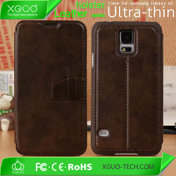 luxury design for Galaxy S5 leather case,Pu flip leather case for samsung galaxy s5