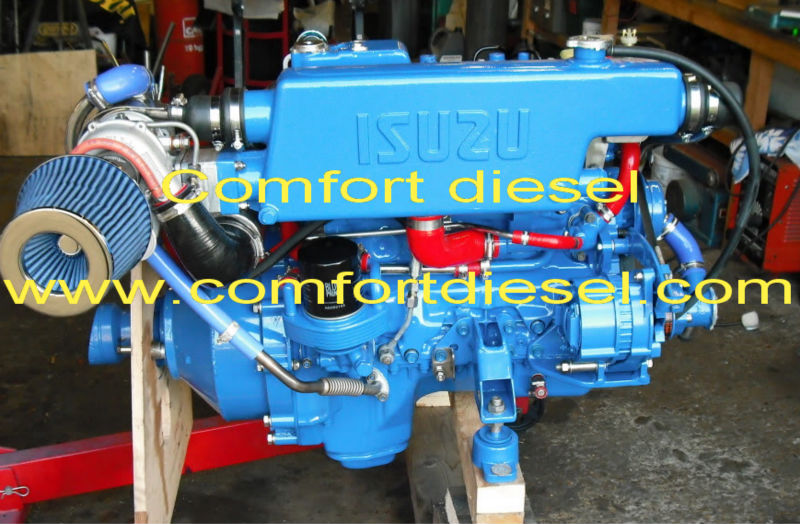 Isuzu marine diesel inboard engine for high speed bots