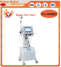 ICU CCU Medical Ventilator Breathing Medical Product Hospital Equipment with Air-Compressor PA-900B