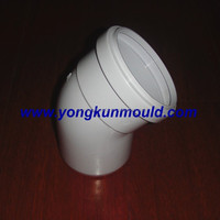 45 degree pvc flared elbow mold