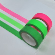 Japan paper green polyester masking tape for gift box and decoration