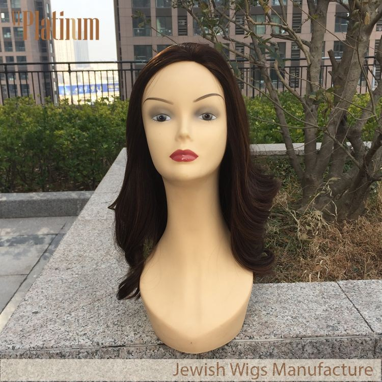 22 inches Mono Skin Top Wavy Style Jewish Kosher Certified Virgin Hair Wigs