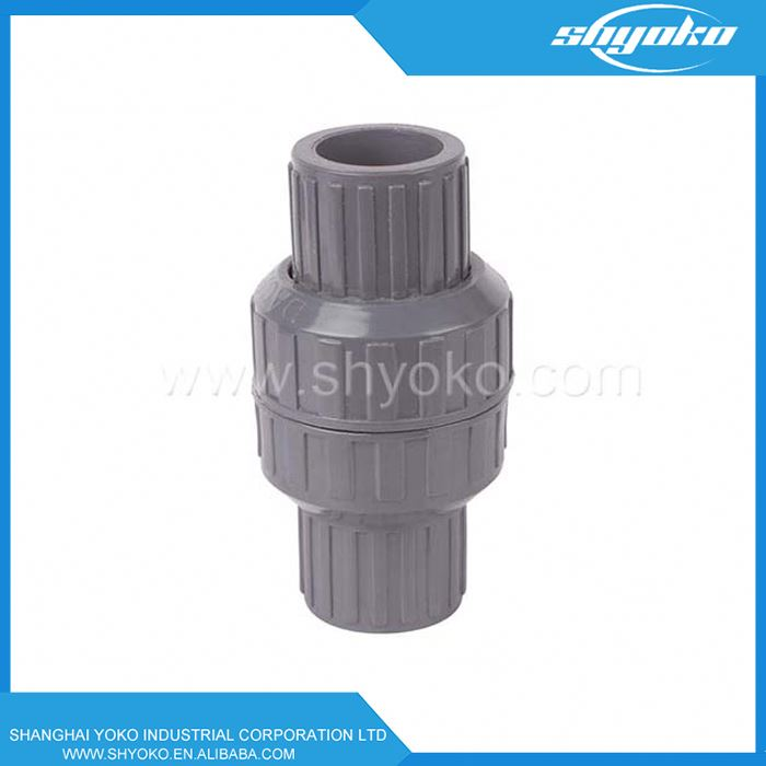 2016 china supplier valve manufacture pvc sewage check valve 6 inch