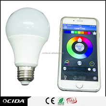 Bluetooth Wireless Control Multicolor LED Light Bulb AC85-265V RGB 5W Smart bulb Lighting