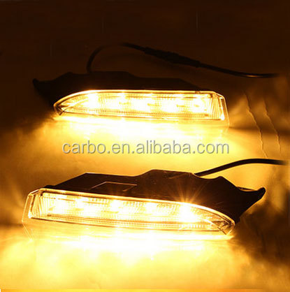 New Arrival 12V High Power led Daytime running light For Volkswagen Scirocco R with yellow light