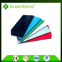Greenbond buiding material brushed aluminum laminate sheet Aluminum Composite Panels printing printing with high technology