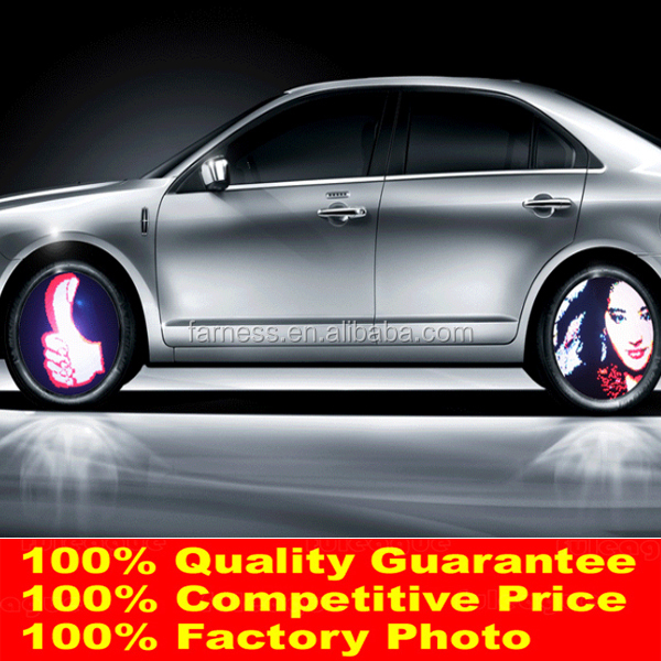Factory Most Hot Programmable Car Wheel Light Design Funny Car Accessories