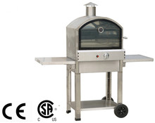 Premium gas used top quality grill with pizza oven