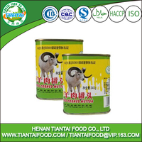 Promotional sample free round metal can corned mutton