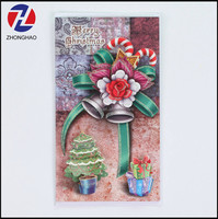 New arrived popular cheap Christmas festival greeting card