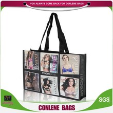 High quality durable recyclable unique photos printing pp shopping bag,pp woven shopping bag