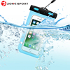 PVC mobile phones beach waterproof duffel bag for iphone 7 case With All Touch Function Workable