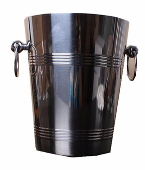 Stainless Steel Wine Ice Bucket with handle