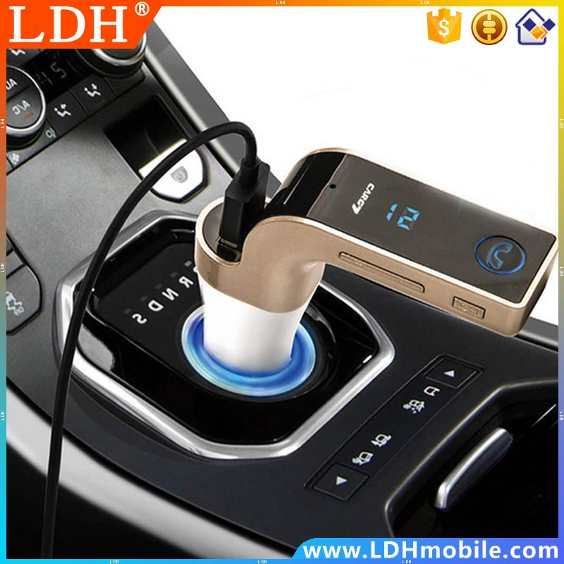 New Car G7 FM Transmitter Portable TF Card U Disk MP3 Music Player USB Charger Bluetooth Car Kit for IPhone Samsung Phone