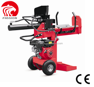 CE gasoline Petrol log splitter 15T 3-in-1 firewood wood processor, vertical Horizontal log splitter, used gas log splitter