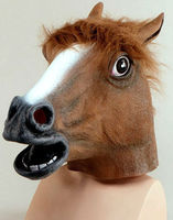 HORSE HEAD PONY ANIMAL LATEX PARTY FANCY DRESS COSTUME OUTFIT OVERHEAD MASK NEW