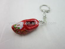 dutch shoe wholesale D ring key chain with logo promotion