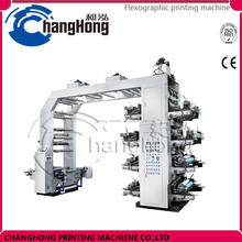 HOT high speed stacking Changhong brand 8 Color plastic bag Flexo Printing Machine for sale price
