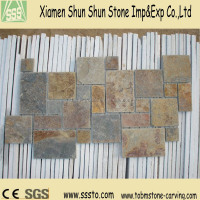 Rusty Slate Stone for Wall Paving