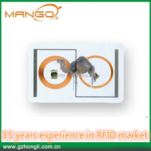Factory multi-function pvc fm11rf08 and UHF rfid dual interface card for campus 14443a and ISO/IEC 7816