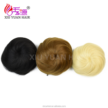 Wholesale price synthetic wigs hair bun accessories, Hair Roller Fake Hair Bun pieces With Elastic,steamed bun maker