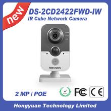 Original English Hikvision 2MP Wifi IP Camera Wireless Security Camera DS-2CD2422FWD-IW IR Cube Network Camera