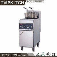 Stainless Steel AISI 304 Heavy Duty Self Equipped Exhausting System Hot Dog Fryer