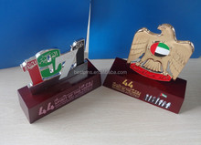 44th UAE national day 1971 falcon metal plaque wood trophy