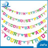 Custom Birthday High Quality Party Decoration Happy Birthday Letter Banner