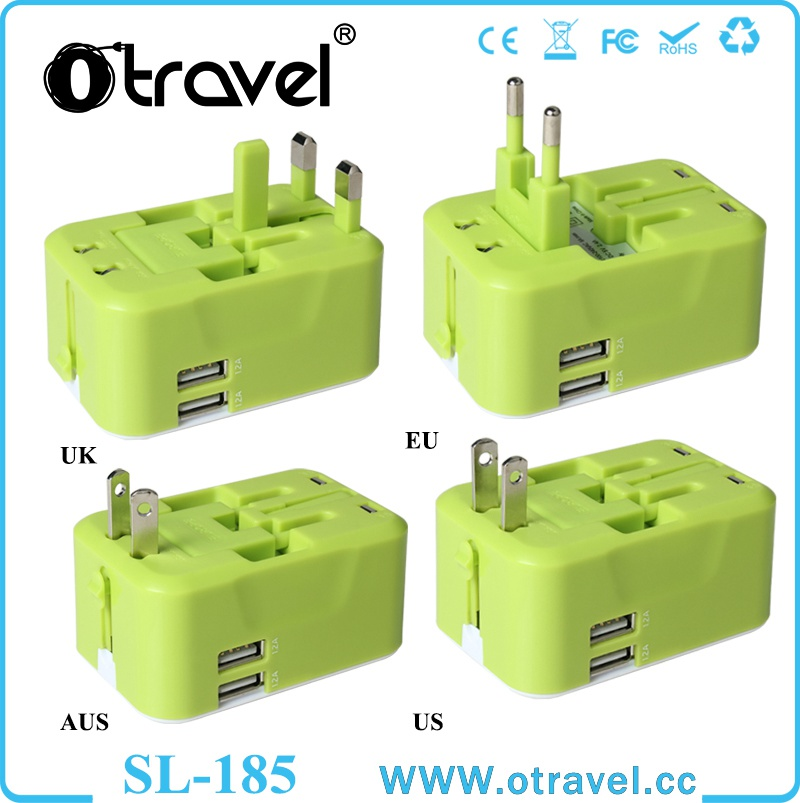 China supplier all in one high quality CE certificate international usb switching Powerful Universal Travel Adapter
