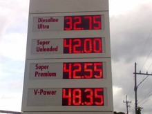 gas price display led oil station sign