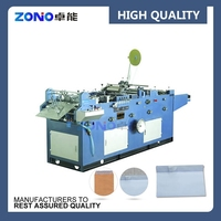 ZNZT500 Cheap Promotional Full automatic envelope adhesive silicon tape paper sticking machine