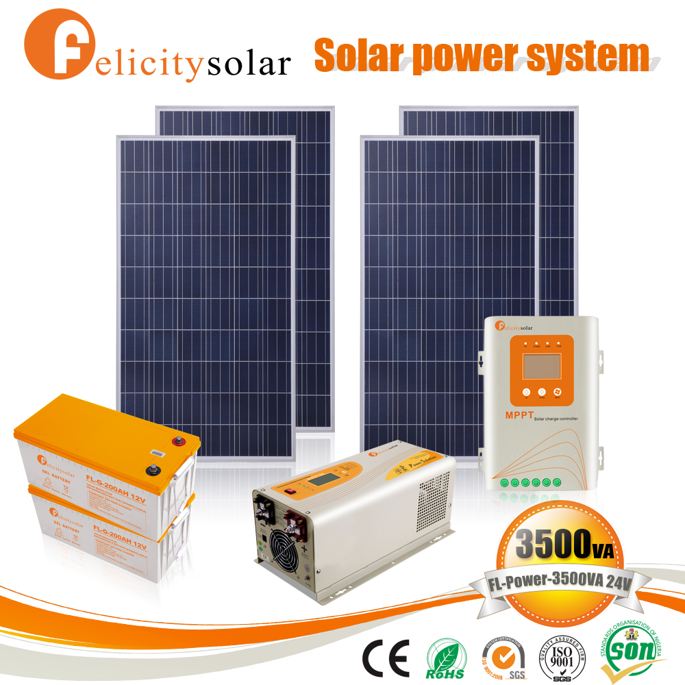 Cheapest home solar equipment 2kw new solar generator panels system for Residential