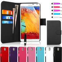 Leather Flip Wallet Case Cover For Samsung Galaxy Note 3 Neo