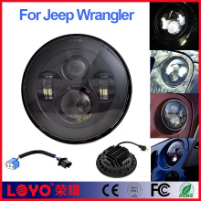Yellow led light H13 high low beam car led headlamp 7 inch round led headlight conversion kit